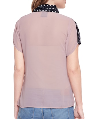 pink solid top - 14516462 - Standard Image - 3