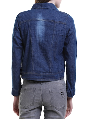 blue denim jacket - 14517624 - Standard Image - 3