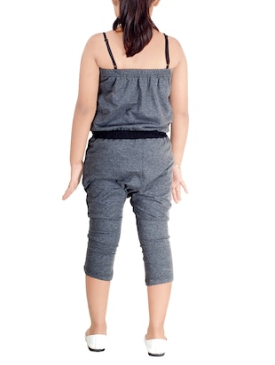 grey cotton jumpsuit - 14518287 - Standard Image - 3