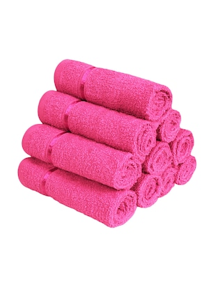 Pure Cotton Set of 10 Face Towel - 14519207 - Standard Image - 3