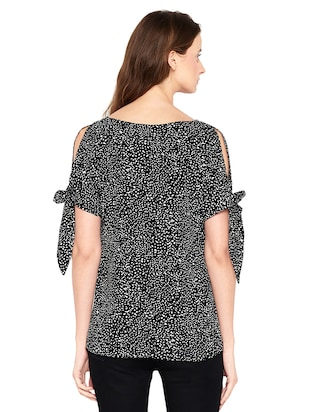 Side tie up sleeved top - 14519342 - Standard Image - 3
