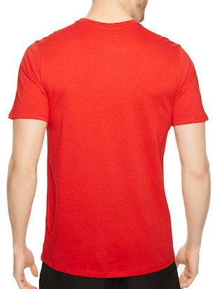 red cotton chest print tshirt - 14520666 - Standard Image - 3