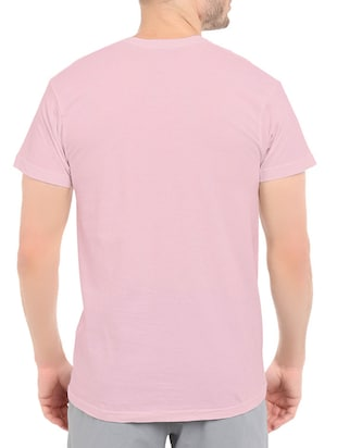 pink cotton chest print tshirt - 14520707 - Standard Image - 3