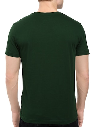 green cotton chest print tshirt - 14521173 - Standard Image - 3
