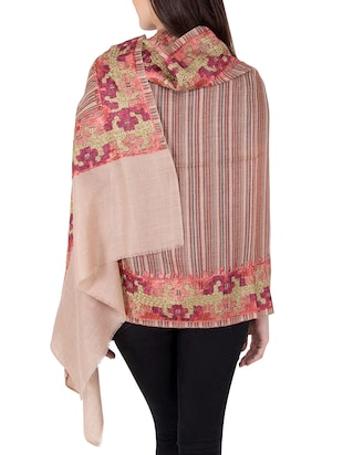 multi colored woolen stole - 14521452 - Standard Image - 3