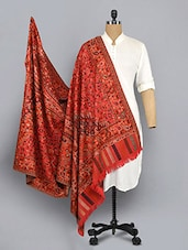 red woolen shawl -  online shopping for shawls