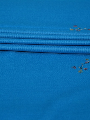 blue embroidered shawl - 14521720 - Standard Image - 3