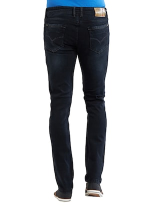 blue cotton washed jeans - 14525621 - Standard Image - 3