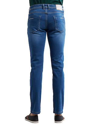 blue cotton washed jeans - 14525663 - Standard Image - 3