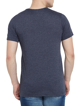 navy blue cotton t-shirt - 14526680 - Standard Image - 3