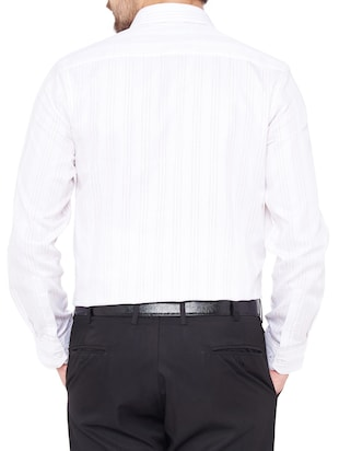 white cotton formal shirt - 14527200 - Standard Image - 3
