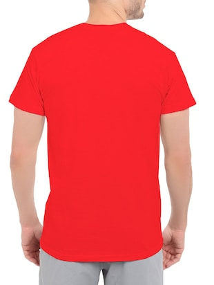 red cotton t-shirt - 14528504 - Standard Image - 3