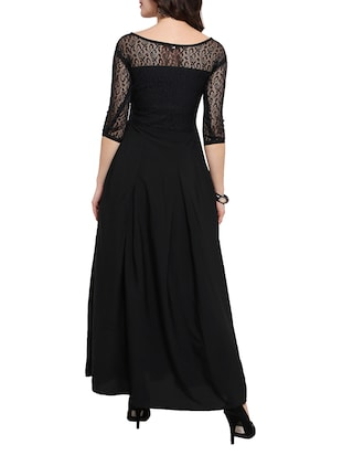 floral lace panel pleated maxi dress - 14528880 - Standard Image - 3