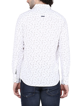 white cotton casual shirt - 14528984 - Standard Image - 3
