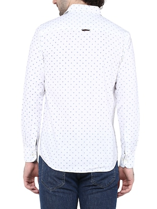 white cotton casual shirt - 14528988 - Standard Image - 3