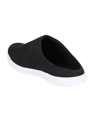 black canvas slip on mules - 14529128 - Standard Image - 3