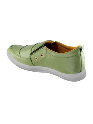 green leatherette casual slipon - 14529137 - Standard Image - 3