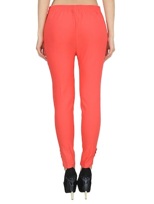 orange rayon trouser - 14531540 - Standard Image - 3