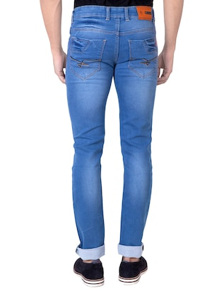 light blue denim washed jeans - 14531548 - Standard Image - 3