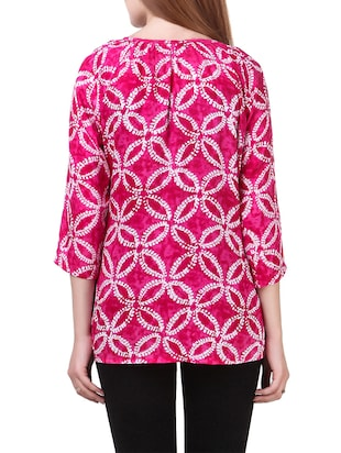 pink rayon casual top - 14531860 - Standard Image - 3