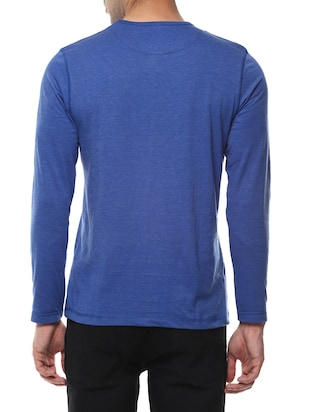 blue cotton  t-shirt - 14531963 - Standard Image - 3