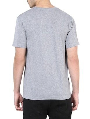 grey cotton t-shirt - 14531967 - Standard Image - 3