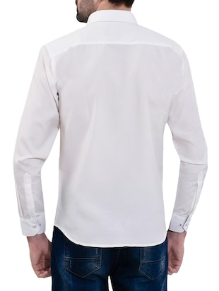 white cotton casual shirt - 14532778 - Standard Image - 3