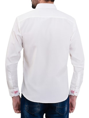 white cotton casual shirt - 14532785 - Standard Image - 3
