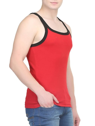 red cotton vest (Set Of 2) - 14533549 - Standard Image - 3