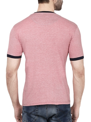pink cotton color block t-shirt - 14533811 - Standard Image - 3