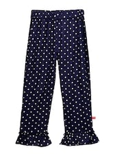 blue viscose casual trousers -  online shopping for trousers