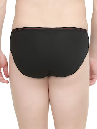 black cotton brief - 14536218 - Standard Image - 3