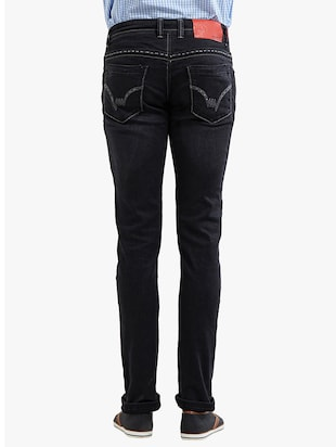black cotton plain jeans - 14536504 - Standard Image - 3