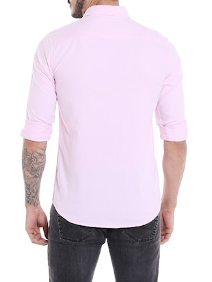 pink cotton casual shirt - 14537493 - Standard Image - 3