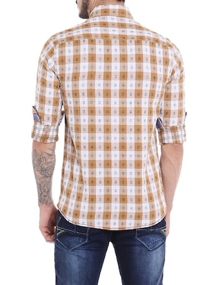 brown cotton casual shirt - 14537500 - Standard Image - 3