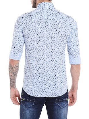 blue cotton casual shirt - 14537517 - Standard Image - 3