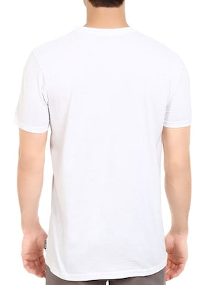 white cotton chest print tshirt - 14539984 - Standard Image - 3