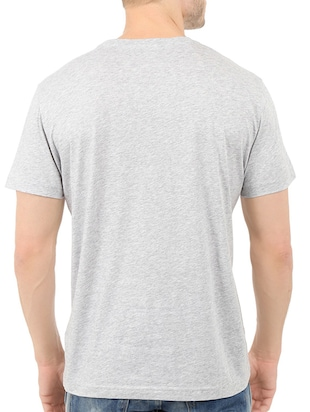 grey cotton chest print tshirt - 14539986 - Standard Image - 3