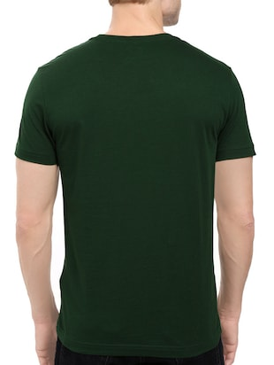 green cotton chest print tshirt - 14539998 - Standard Image - 3