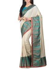 beige tussar saree -  online shopping for Sarees