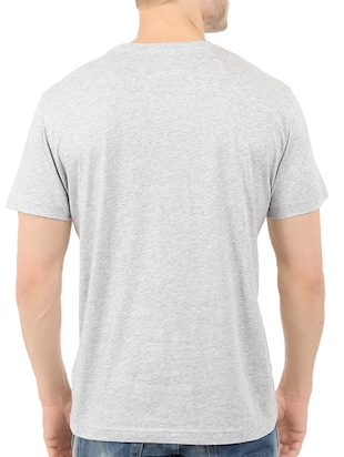 grey cotton chest print tshirt - 14540443 - Standard Image - 3