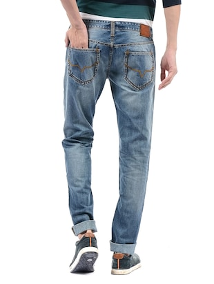 blue cotton ripped jeans - 14542112 - Standard Image - 3