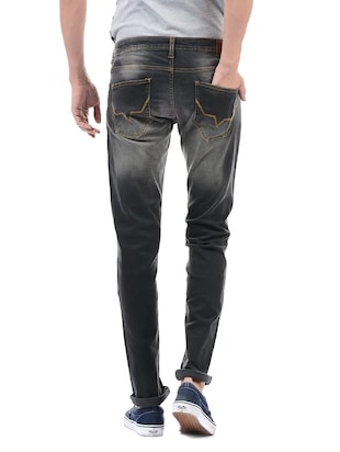 grey cotton washed jeans - 14542146 - Standard Image - 3