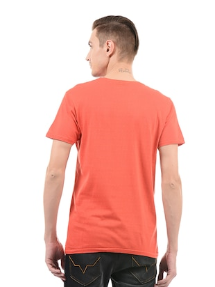 red cotton t-shirt - 14542193 - Standard Image - 3