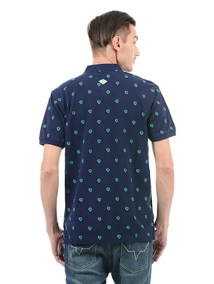 navy blue cotton t-shirt - 14542241 - Standard Image - 3