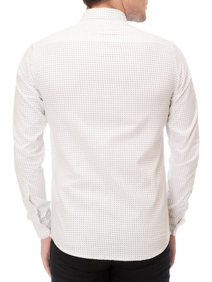 white cotton casual shirt - 14542314 - Standard Image - 3