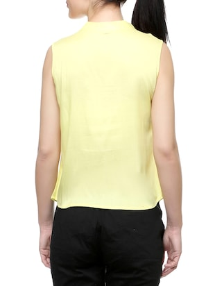 yellow solid top - 14542420 - Standard Image - 3