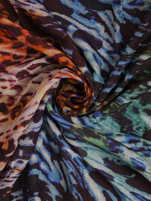 multi colored viscose stole - 14542578 - Standard Image - 3
