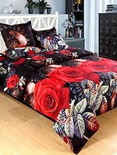 Polycotton Printed Double Bed Sheet With 2 Pillow Covers -  online shopping for bed covers