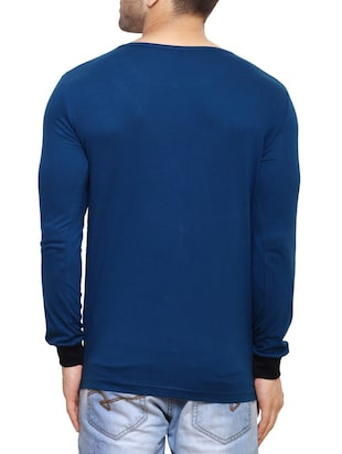 blue cotton t-shirt - 14543080 - Standard Image - 3